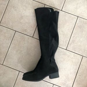 Fergalicious suede over the knee boots (NWOT)
